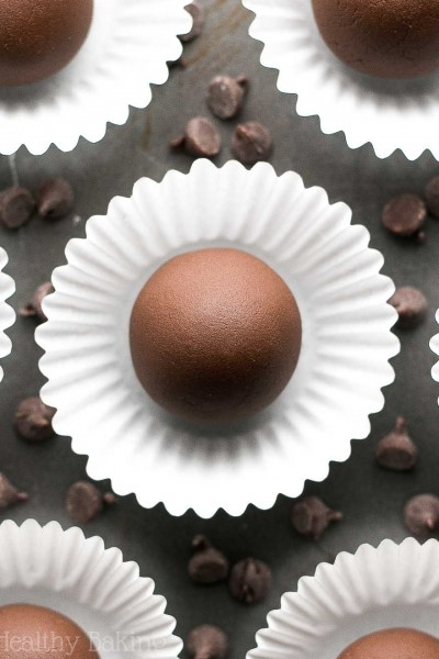Healthy Dark Chocolate Mocha Truffles
