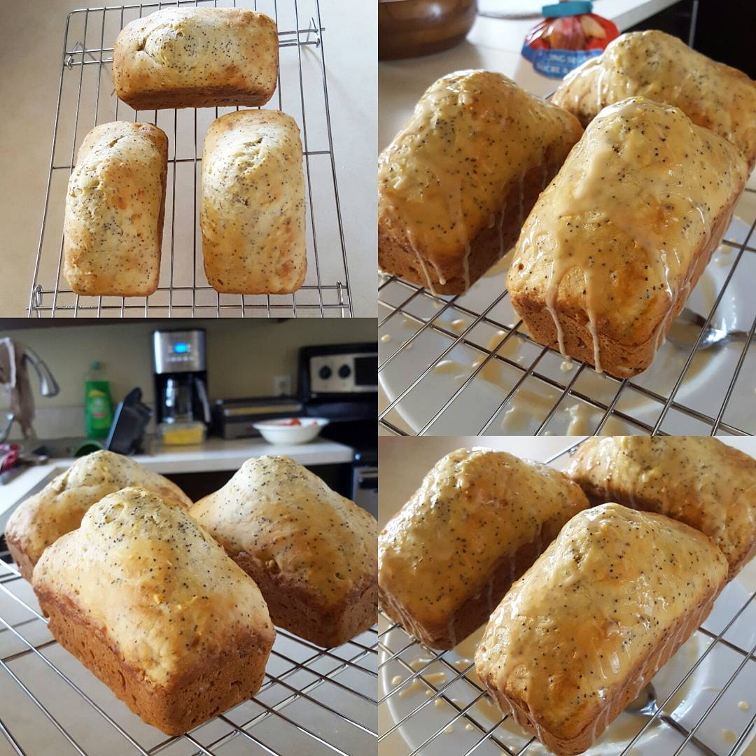 lemon poppy seed loaf cake {as mini loaves!} by @miss.fit.mama