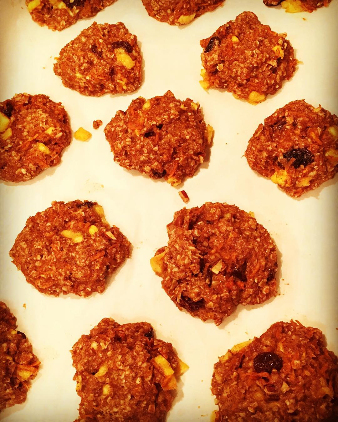 loaded carrot cake oatmeal cookies by @marjorie_farms