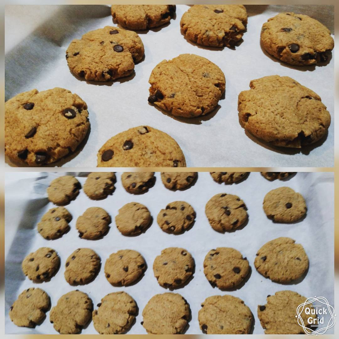 mini chocolate chip peanut butter oatmeal cookies by @tonyayarb