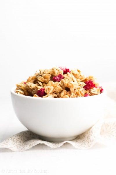 Healthy Raspberry Almond Granola