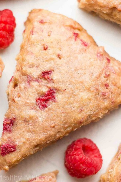 Healthy Raspberry Almond Scones