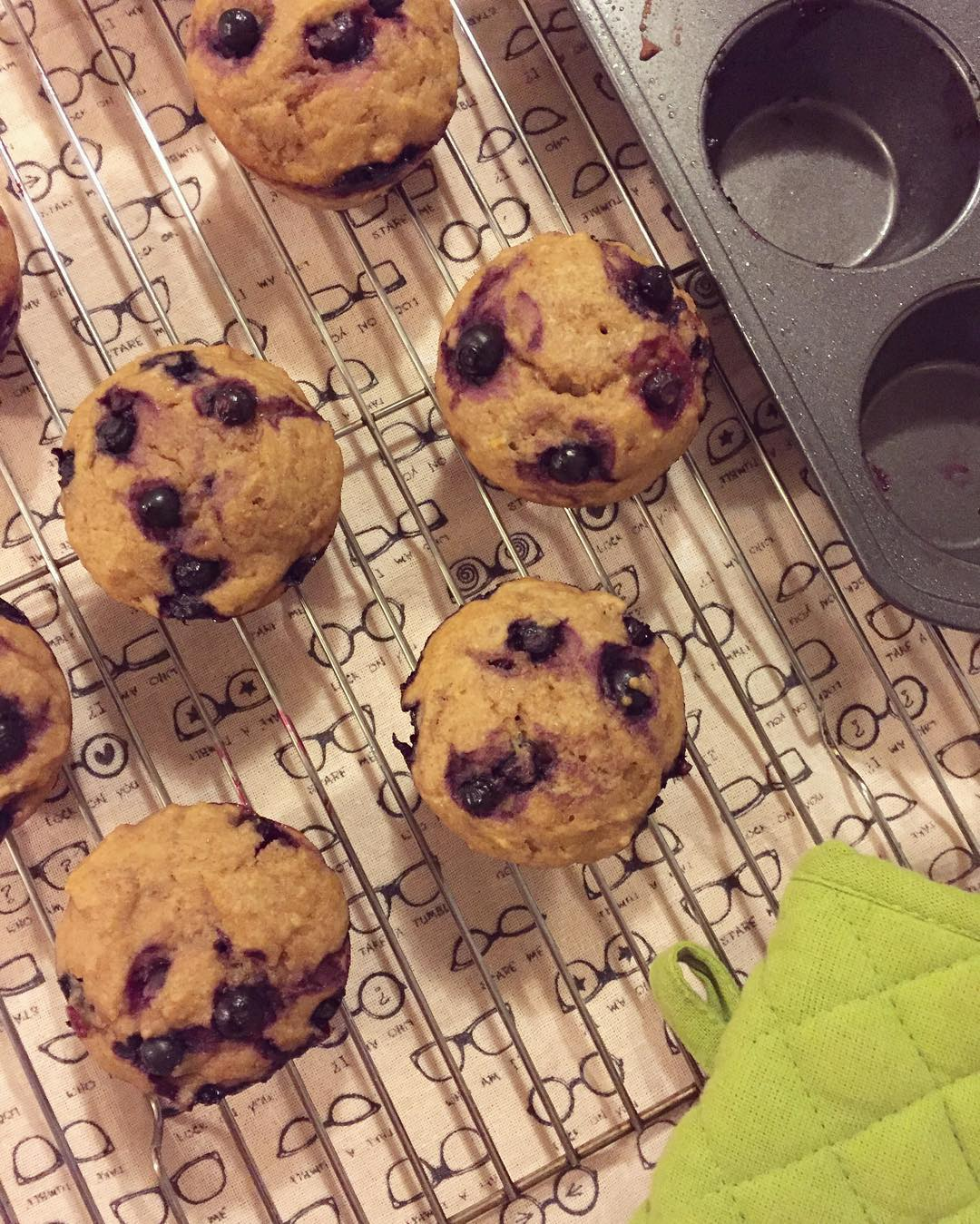 the ultimate healthy blueberry muffins {with huckleberries instead!} by @kerilyn0227