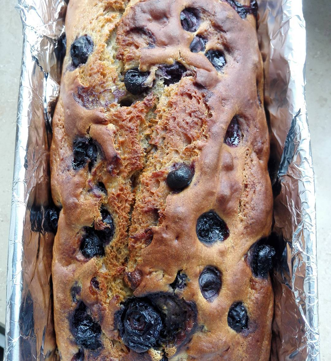 healthy blueberry buttermilk banana bread by @stella_dez