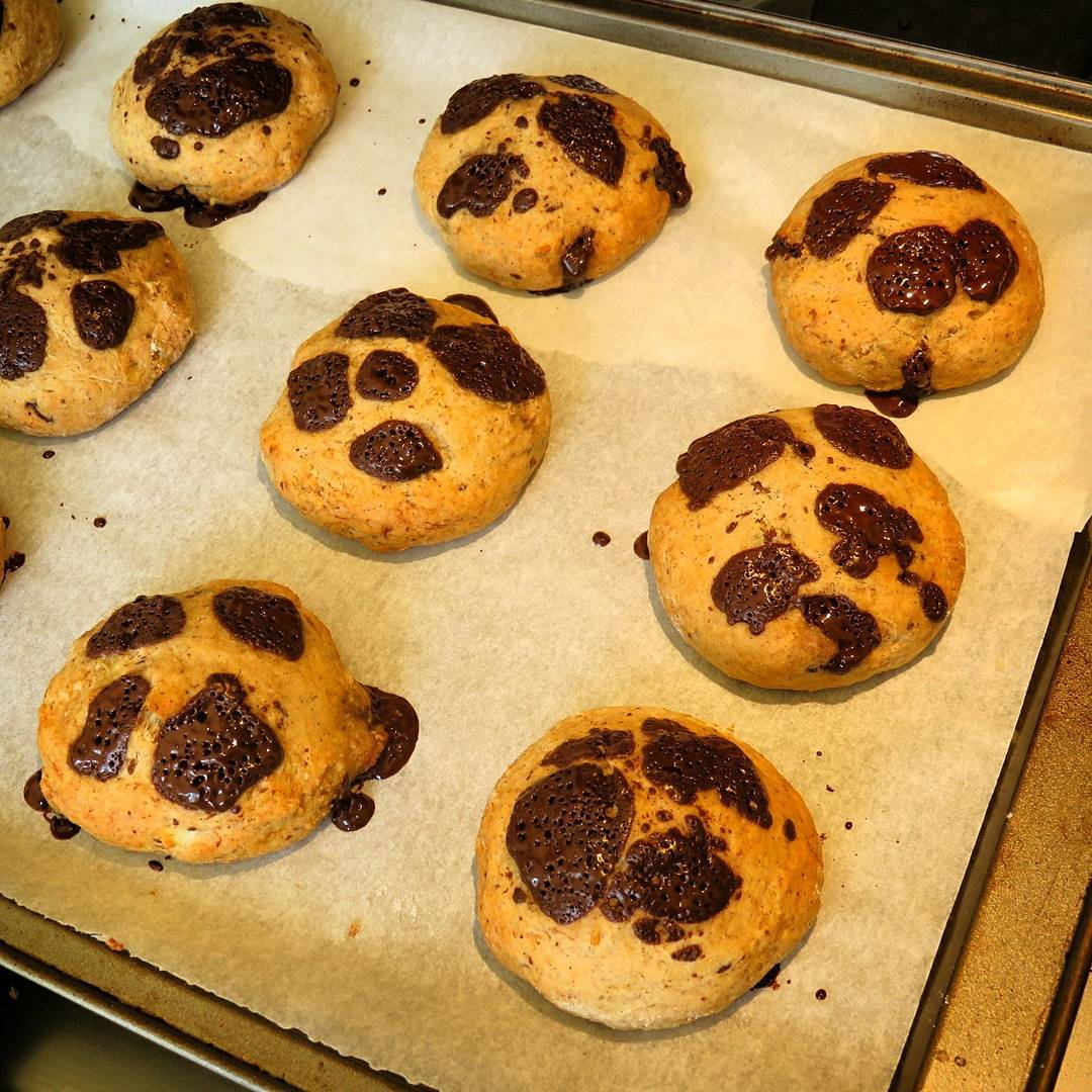 banana chocolate chip cookies by @alsfitkitchen