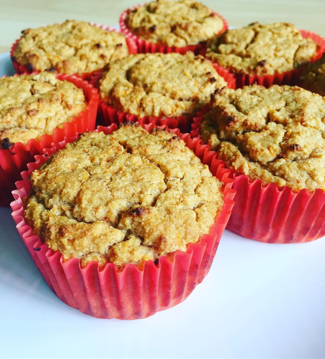 carrot cake protein muffins by @cleaneating_creations