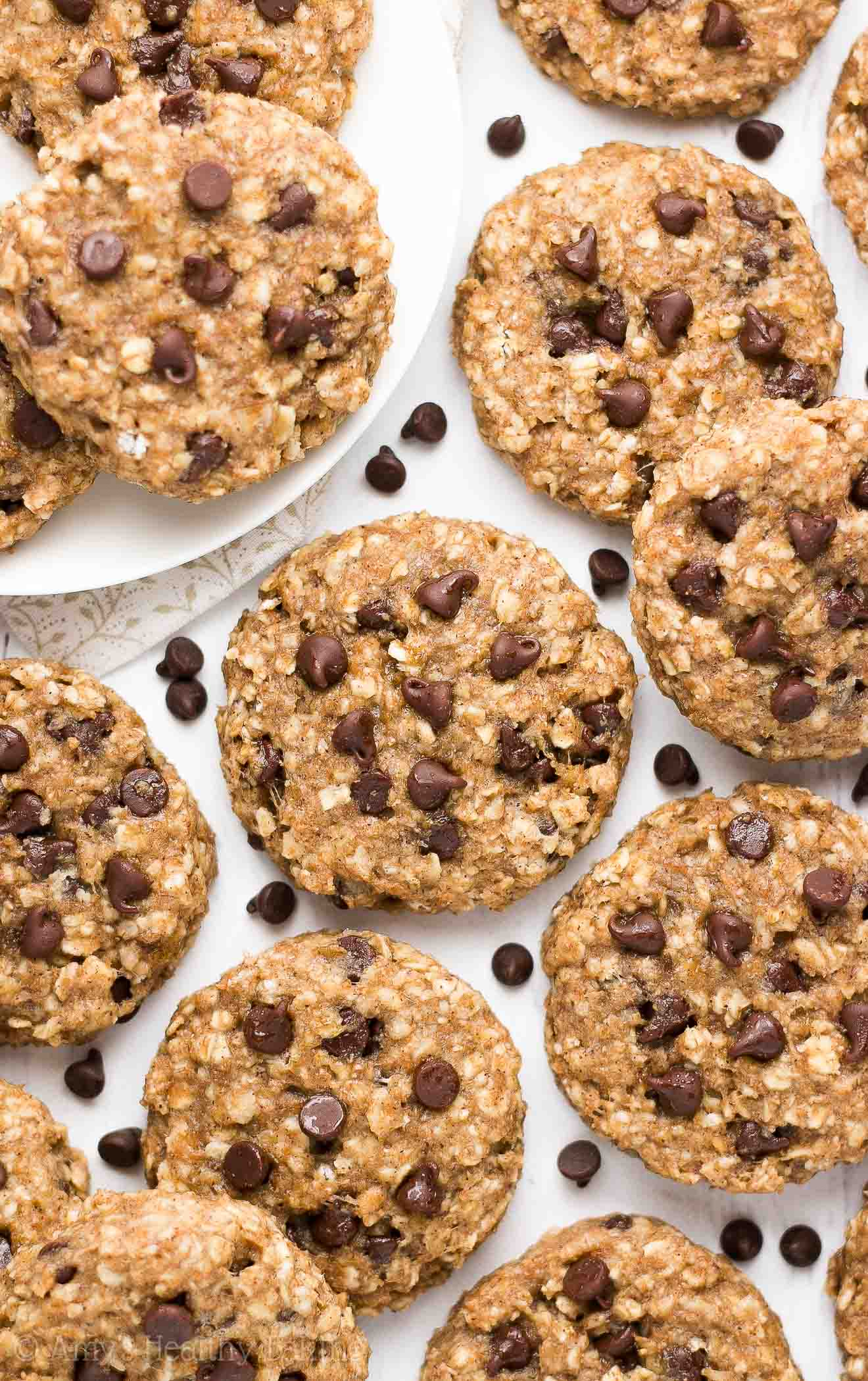 Healthy Chocolate Chip Banana Oatmeal Breakfast Cookies | Amy's ...