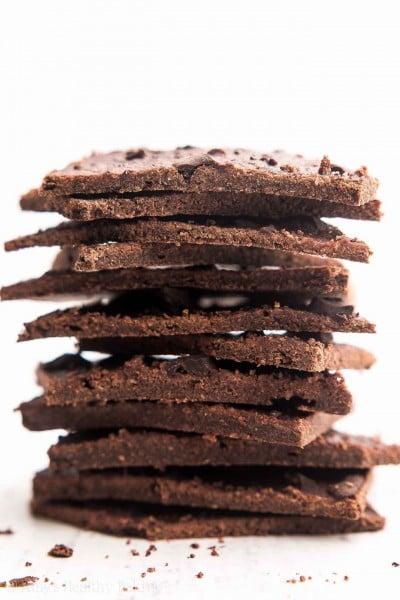 Healthy Chocolate Chunk Brownie Thins