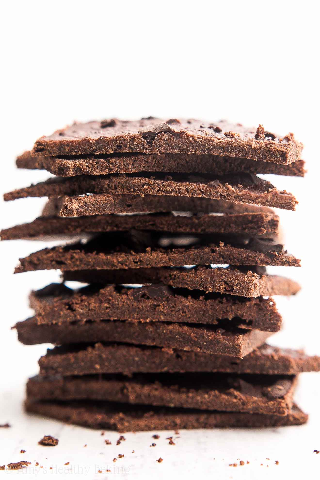 Healthy Chocolate Chunk Brownie Thins | Amy's Healthy Baking