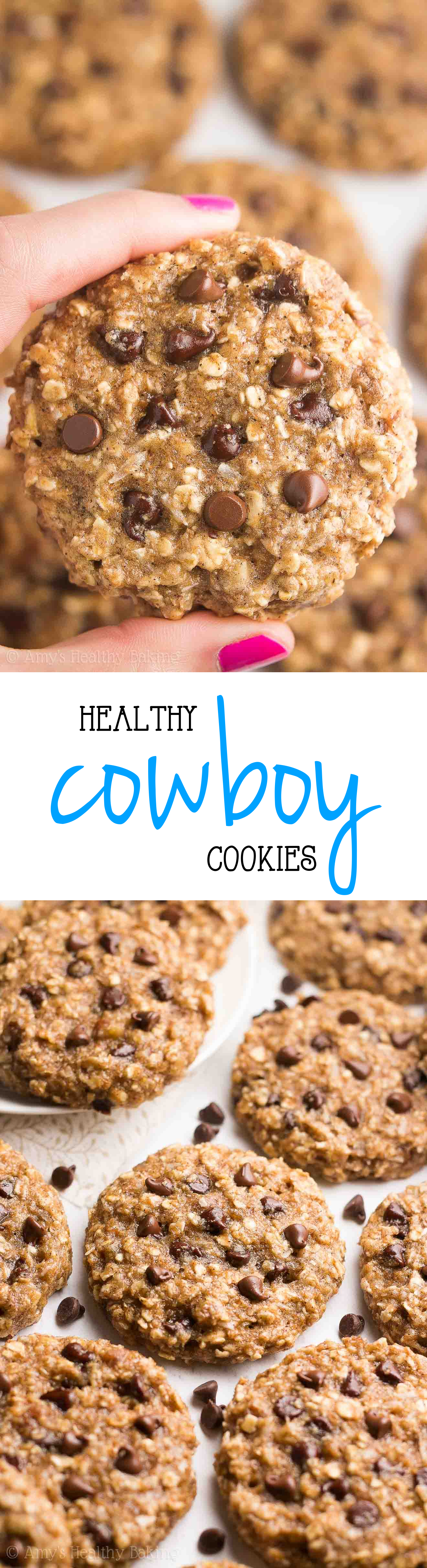 Healthy Classic Cowboy Cookies Amy S Healthy Baking