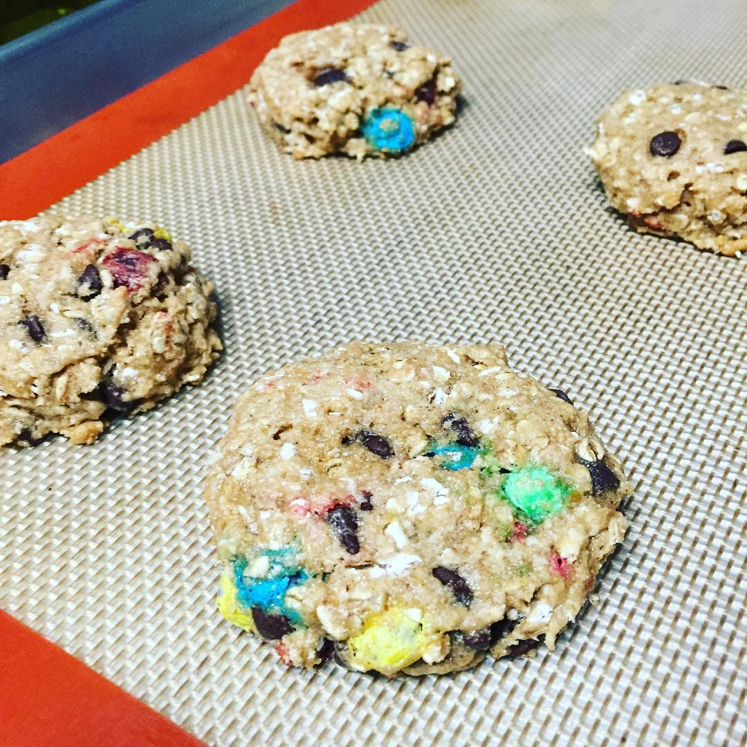 healthy classic monster cookies by @foodfaithandfinds