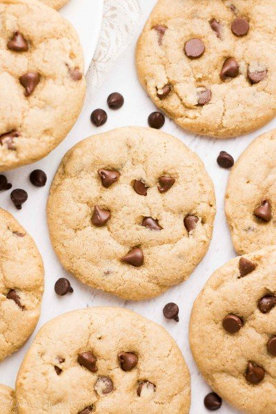 The Ultimate Healthy Soft & Chewy Egg-Free Chocolate Chip Cookies