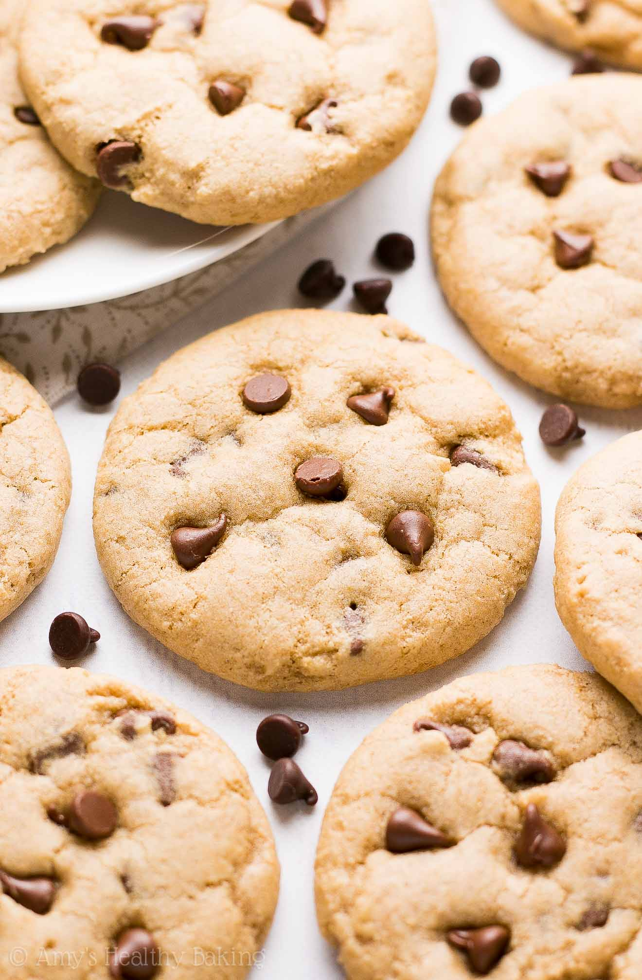 The ULTIMATE Healthy Egg-Free Chocolate Chip Cookies -- soft, chewy & PERFECT! Only 66 calories! You'll never use another recipe again!