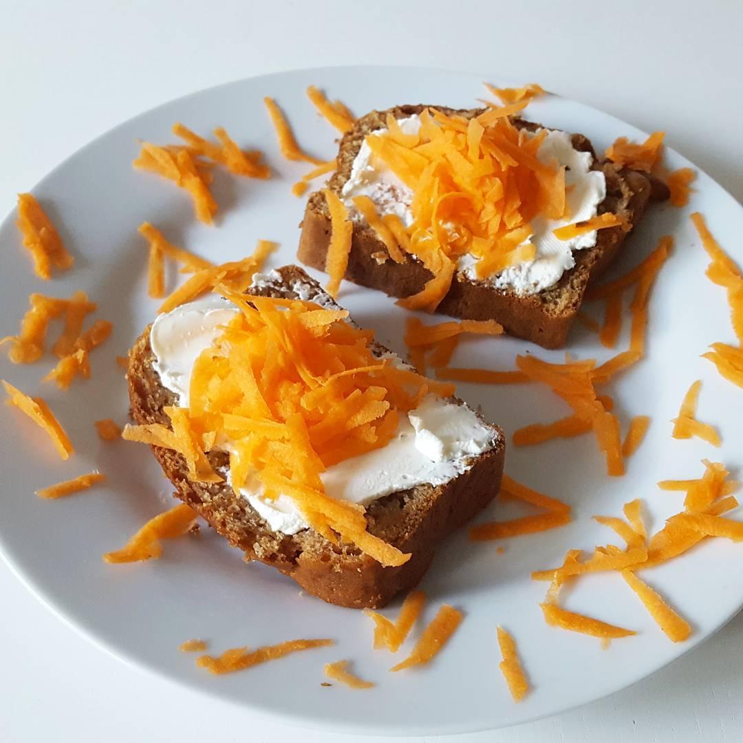 greek yogurt carrot cake pound cake {one of my favorites!} by @fitgirl_flameprincess
