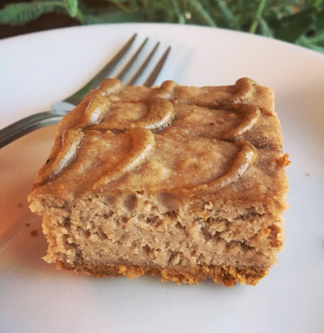 peanut butter banana bread brownies by @carmellasconfections