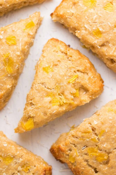 Healthy Pineapple Coconut Scones