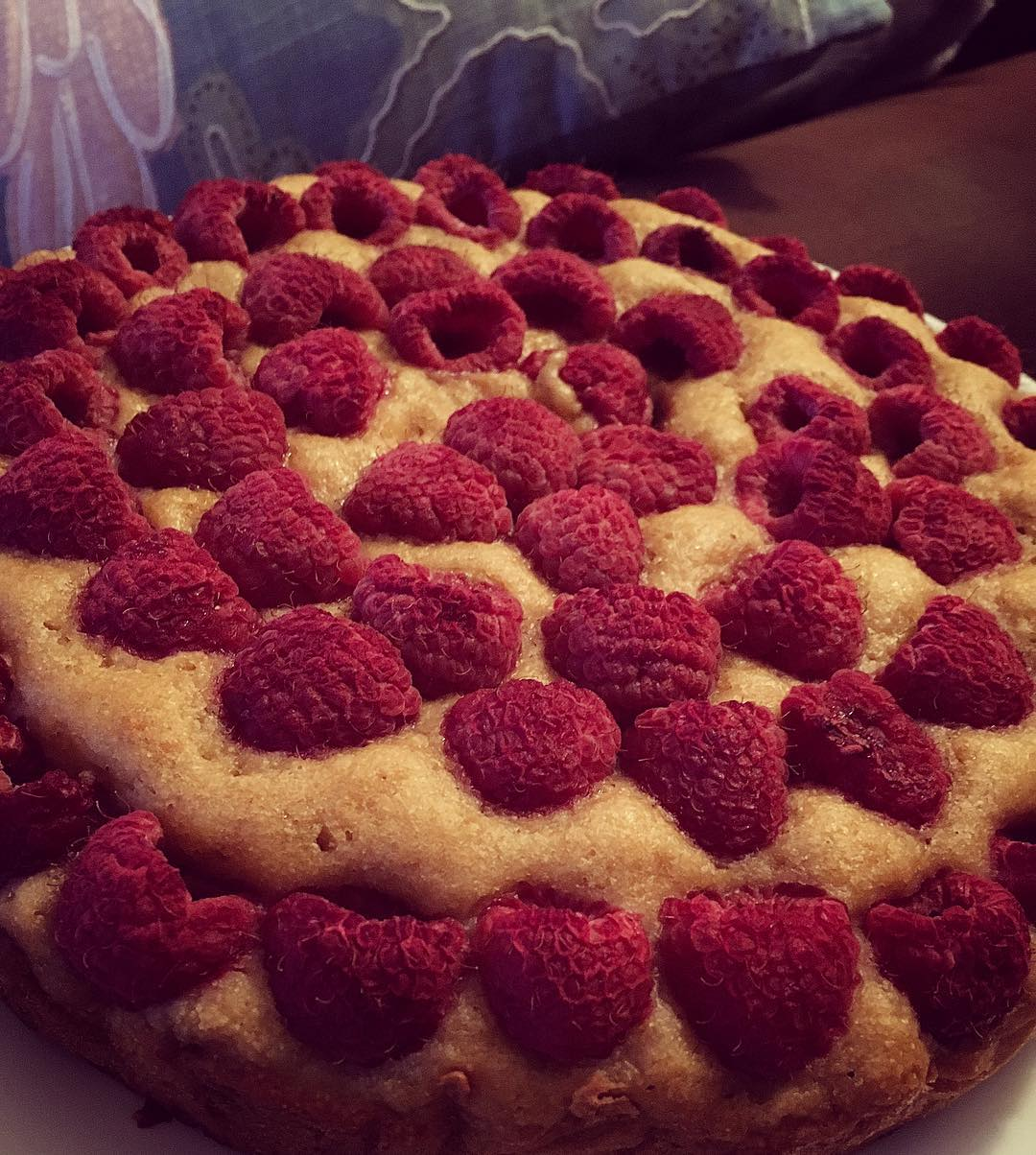 simple raspberry lemon cake by @a.bergbyanyothername