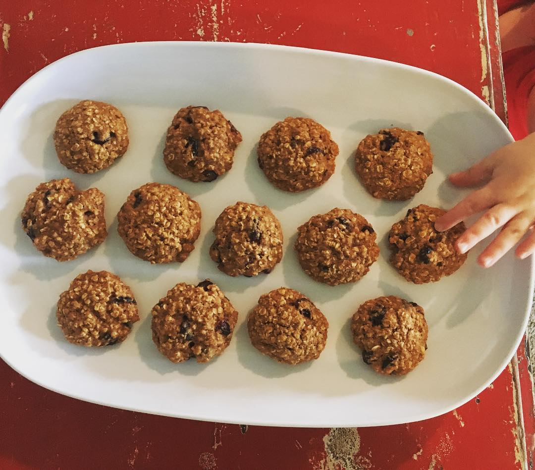 the ultimate healthy oatmeal raisin cookies {with craisins instead!} by @jbeanietroup