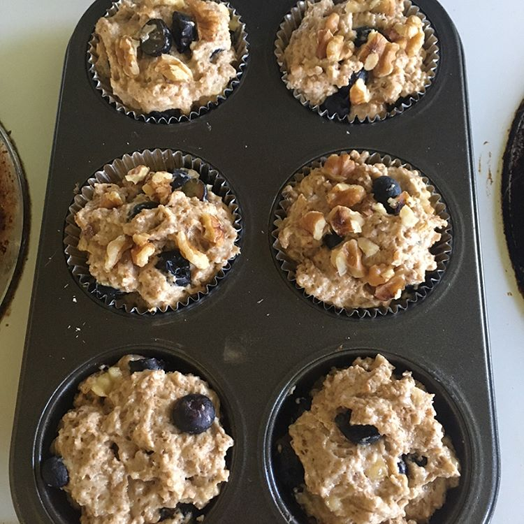chocolate chip blueberry banana muffins by @kdawn2750