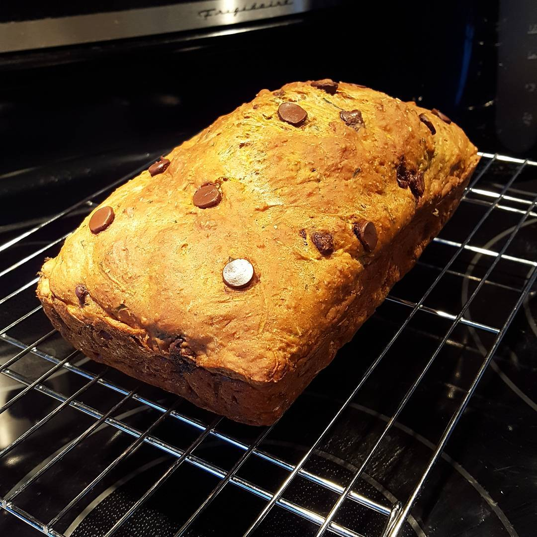 healthy chocolate chip zucchini bread by @miss.fit.mama