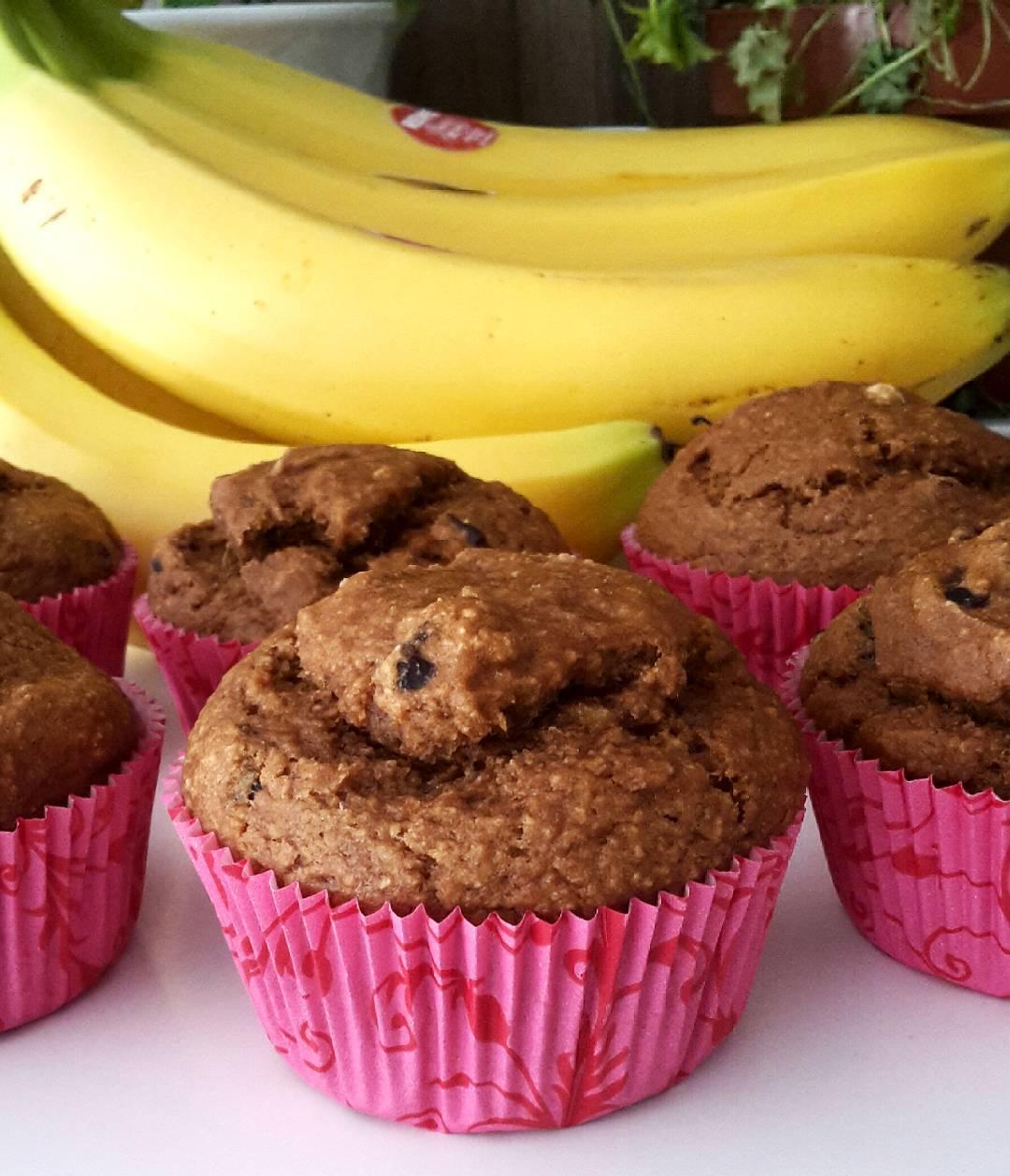 blueberry banana bran muffins by @claras_keksfabrik