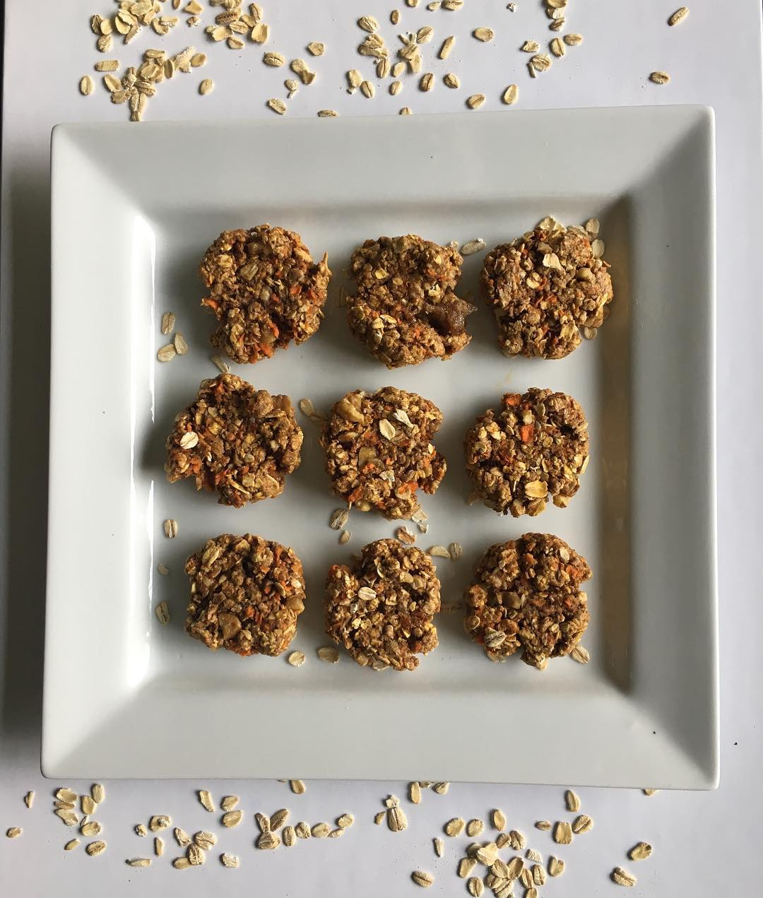 carrot cake oatmeal cookies by @headsorkales