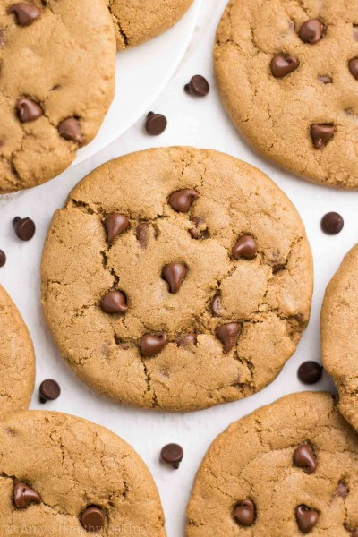Healthy Coffee Chocolate Chip Cookies