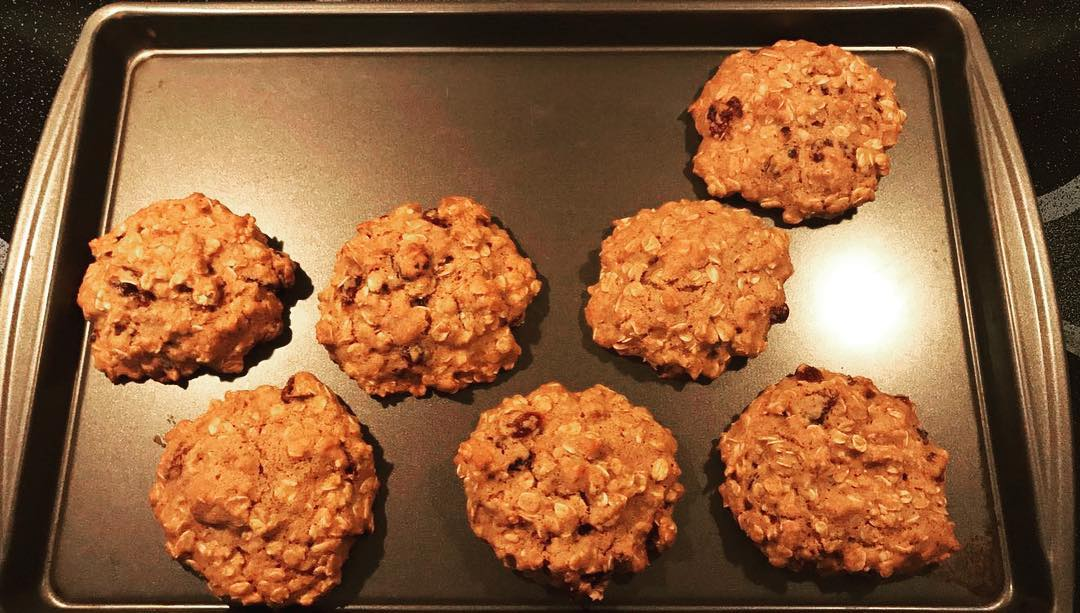 dark chocolate cranberry oatmeal cookies by @mardominica