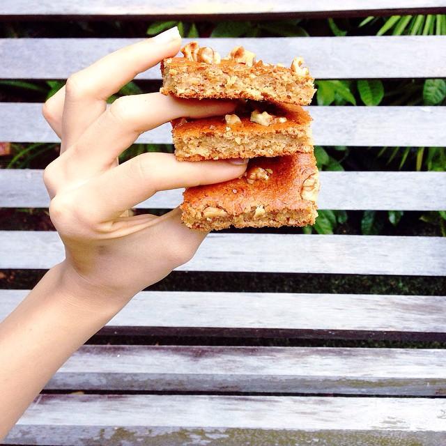 gluten-free pecan banana bread by @megahealthfreak