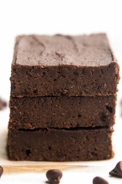 Small Batch Fudgy Dark Chocolate Brownies
