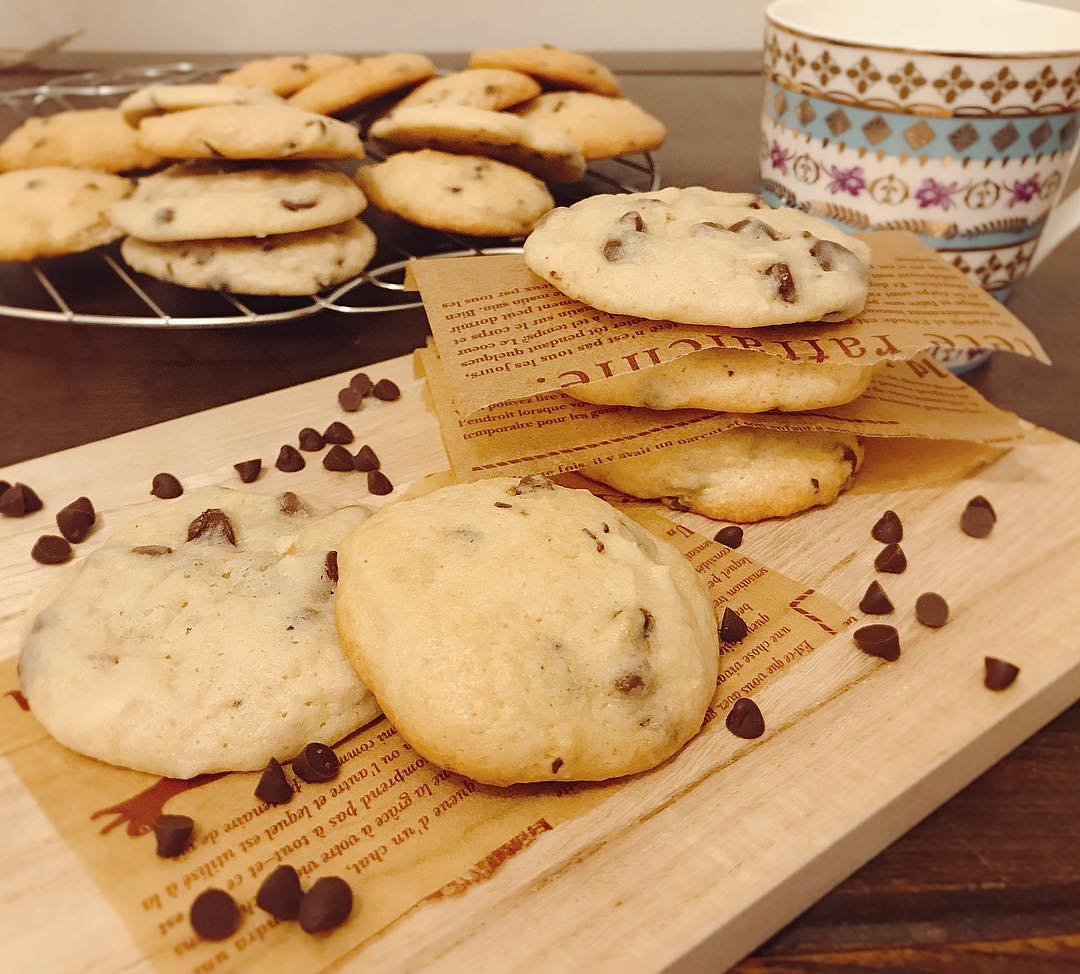 the ultimate healthy soft & chewy chocolate chip cookies by @siri_yuii
