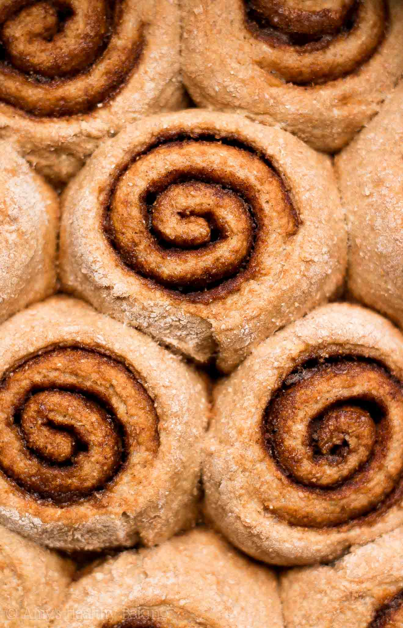 ULTIMATE Best Ever Healthy Whole Grain Low Fat Low Calorie Cinnamon Rolls