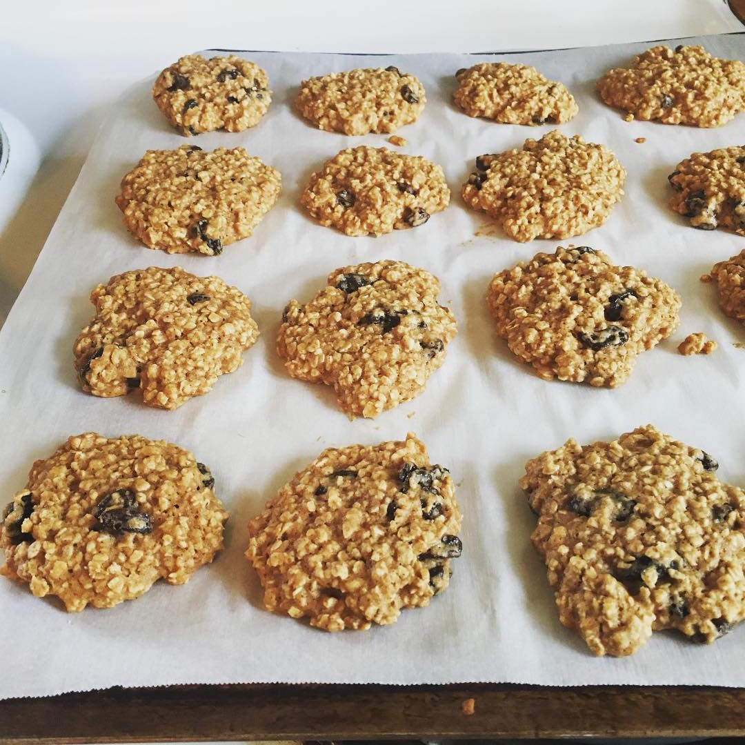 the ultimate healthy soft & chewy oatmeal raisin cookies by @rachelking880