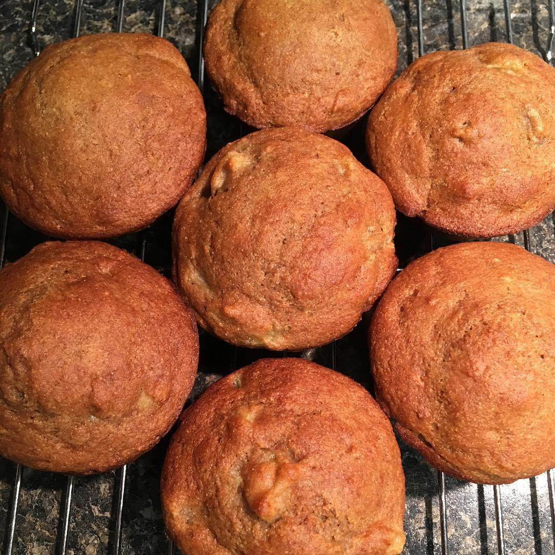 whole wheat honey peach muffins by @lovecamping