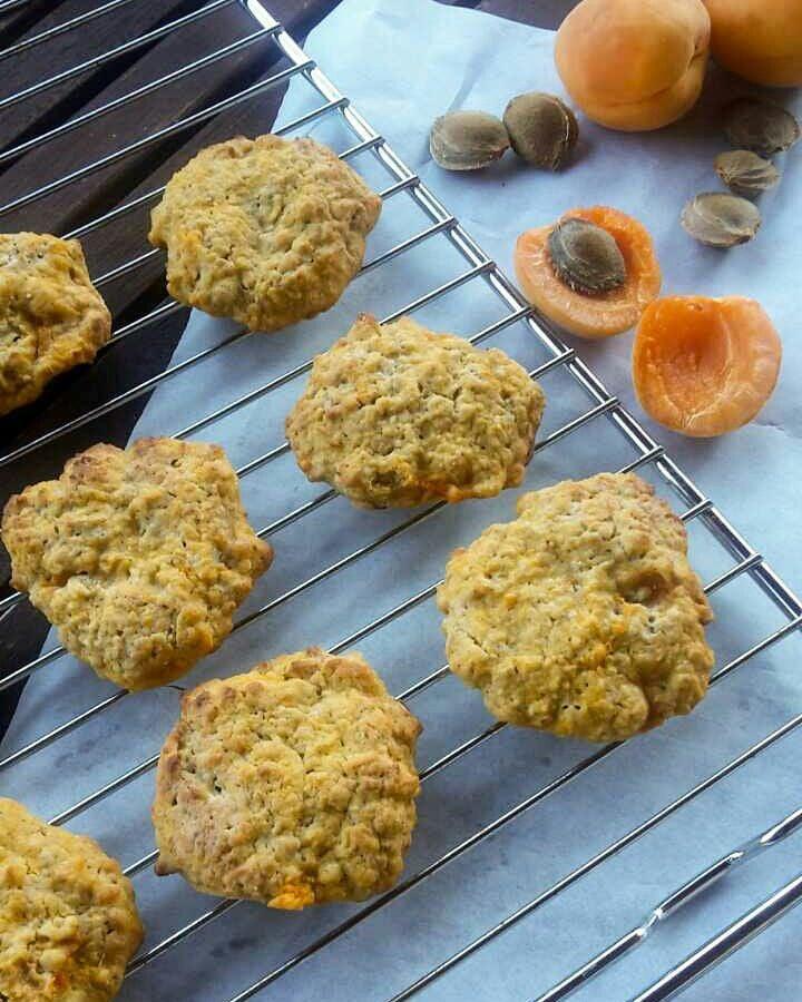 apricot oatmeal cookies by @reka27