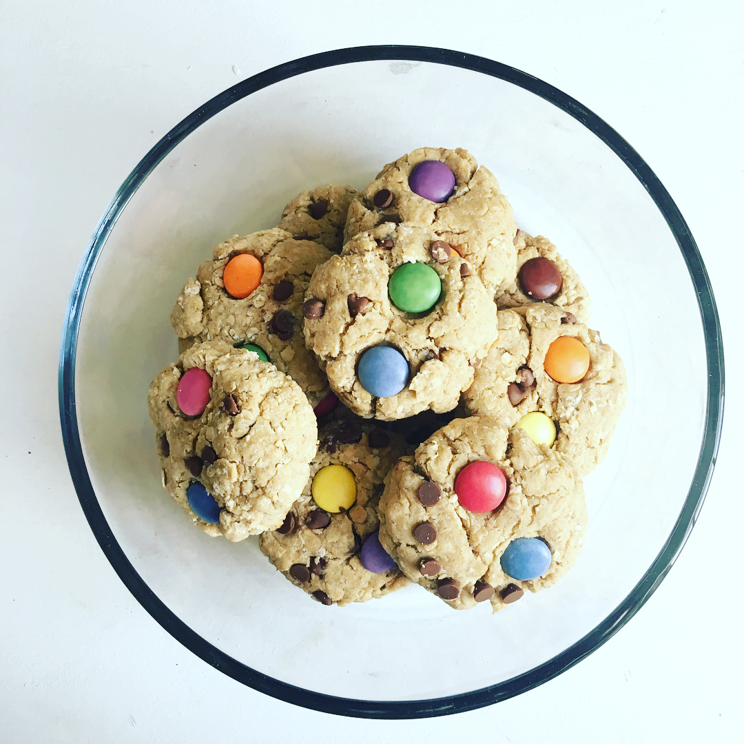 healthy classic monster cookies by @goalsgritgrowth