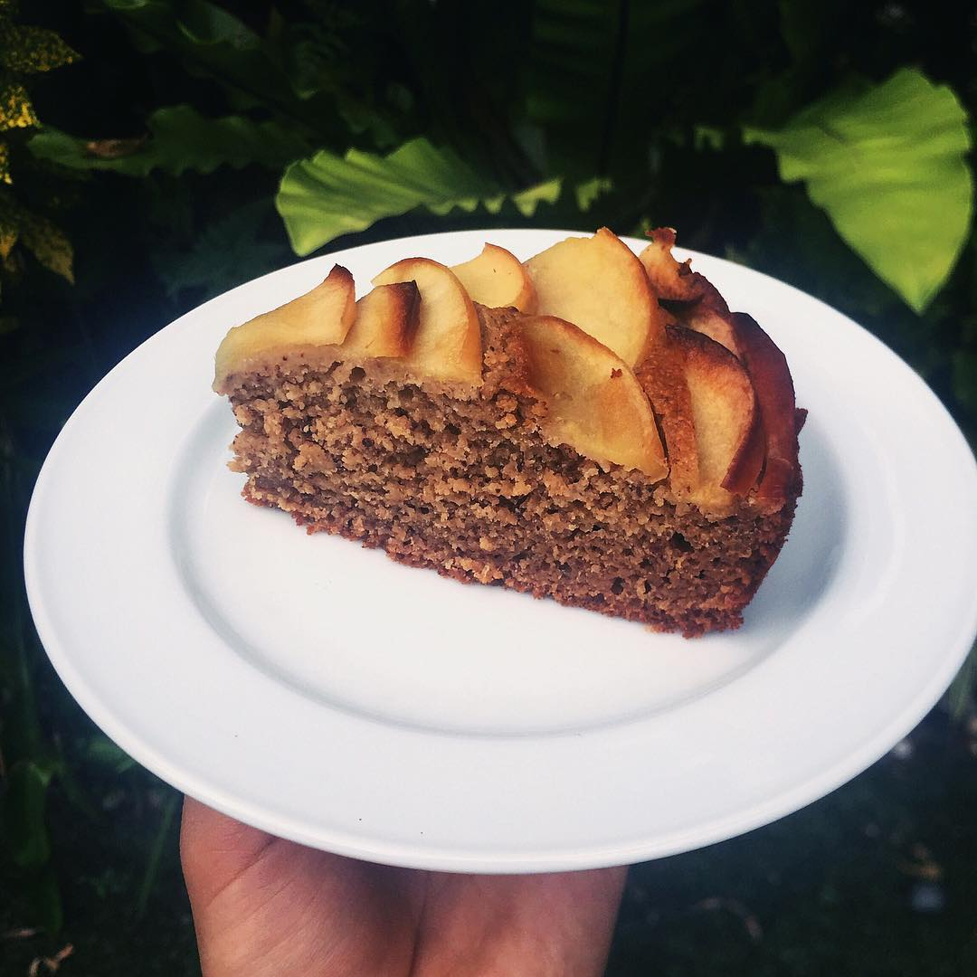 simple cinnamon apple cake by @megahealthfreak