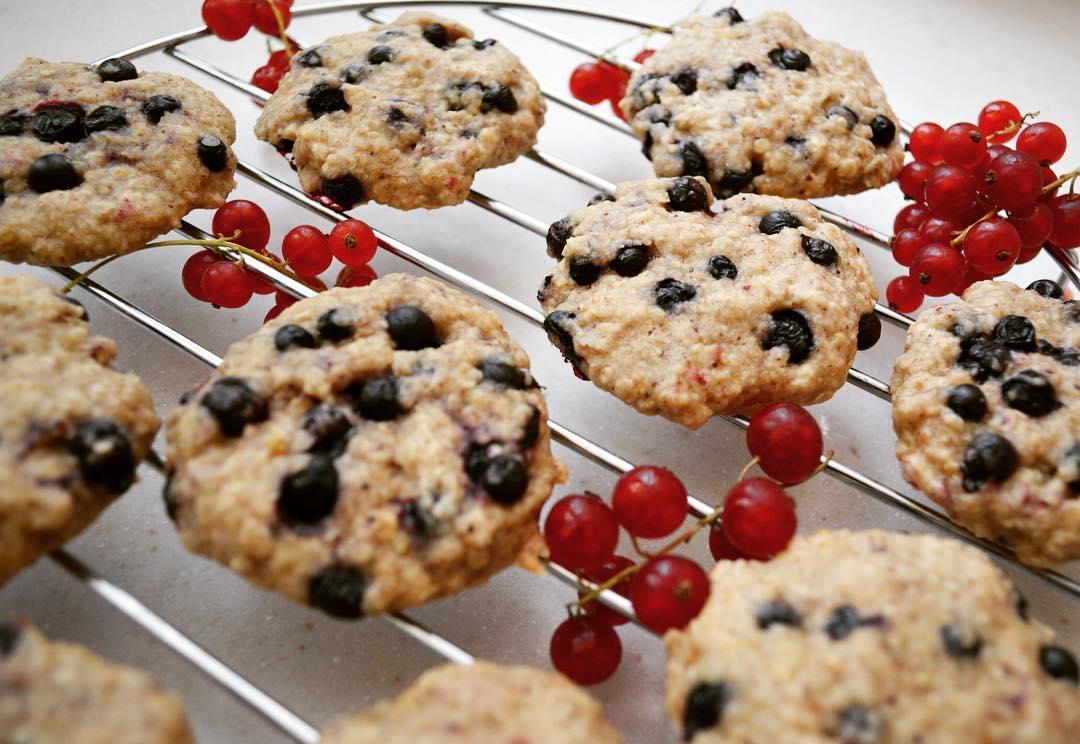 blueberry oatmeal cookies by @munchkin_eats_healthy