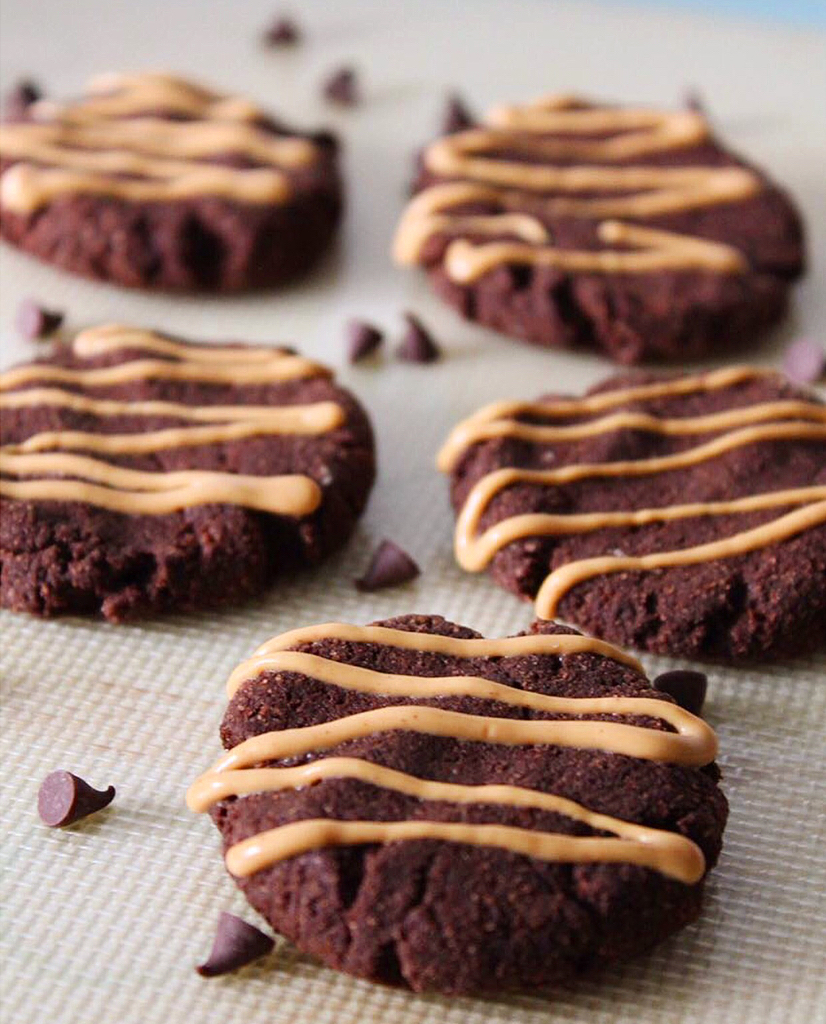 coconut flour double chocolate chip cookies by @fit_from_zero