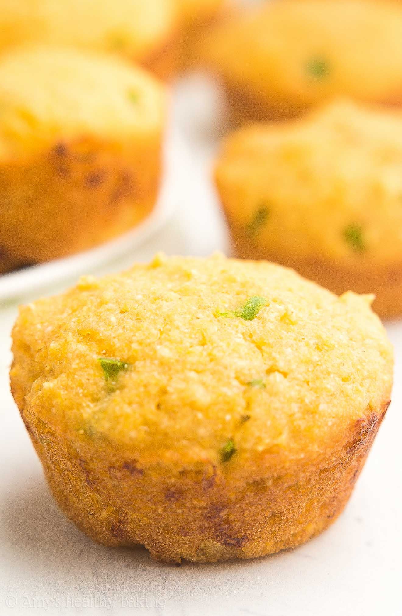 Healthy Jalape 241 O Cheddar Cornbread Mini Muffins Amy S