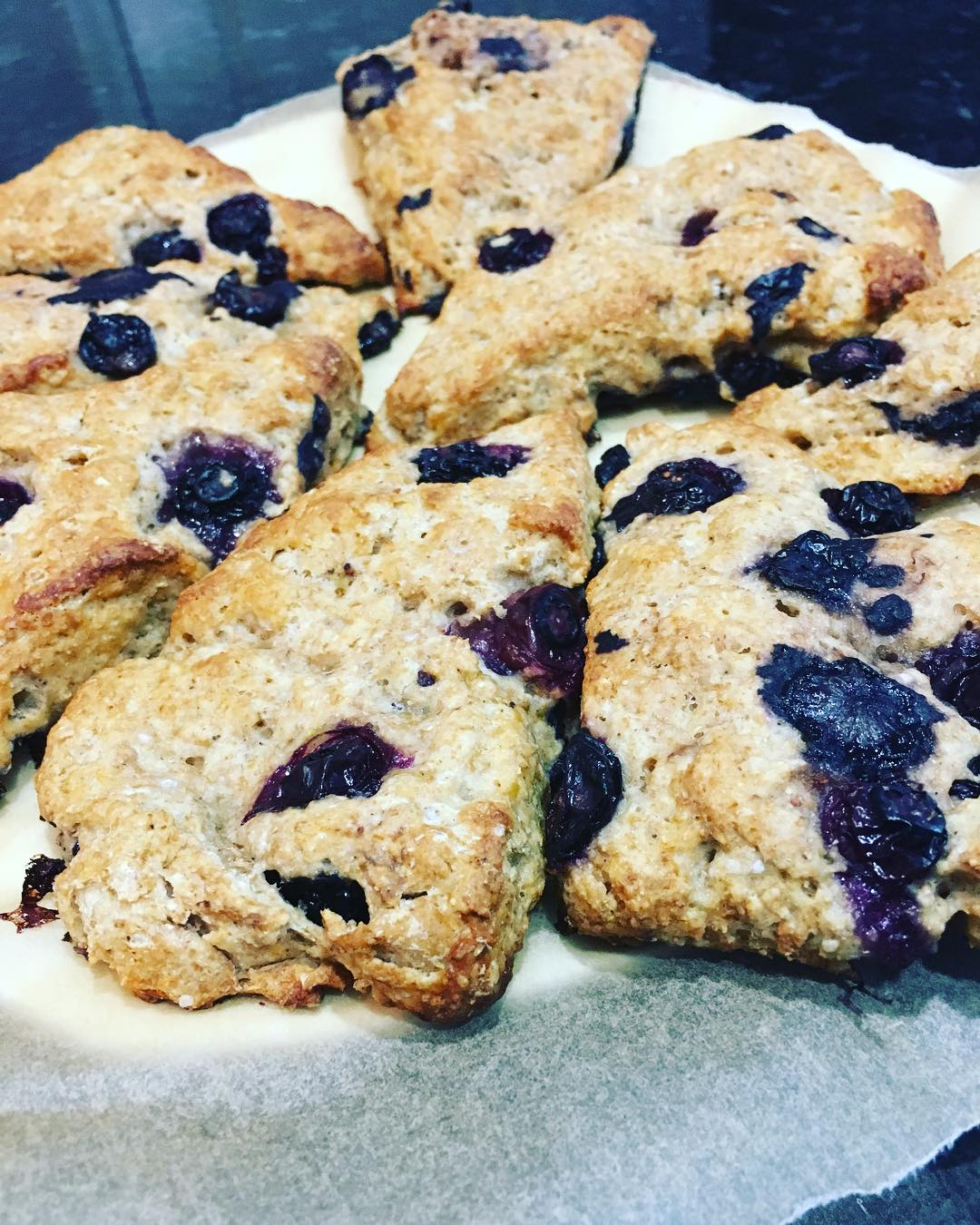 the ultimate healthy blueberry scones by @thechicpeablog