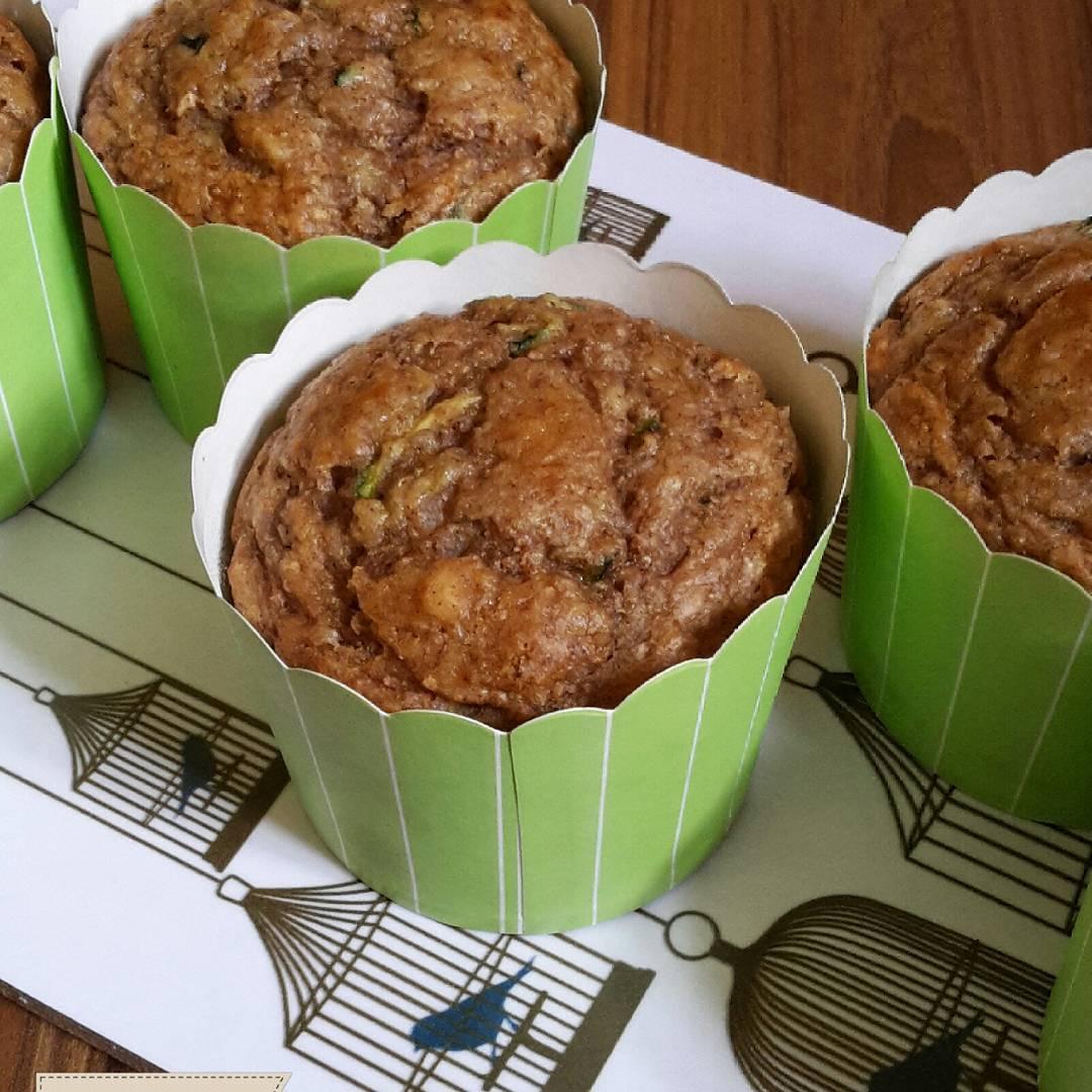 healthy zucchini banana muffins by @claras_keksfabrik