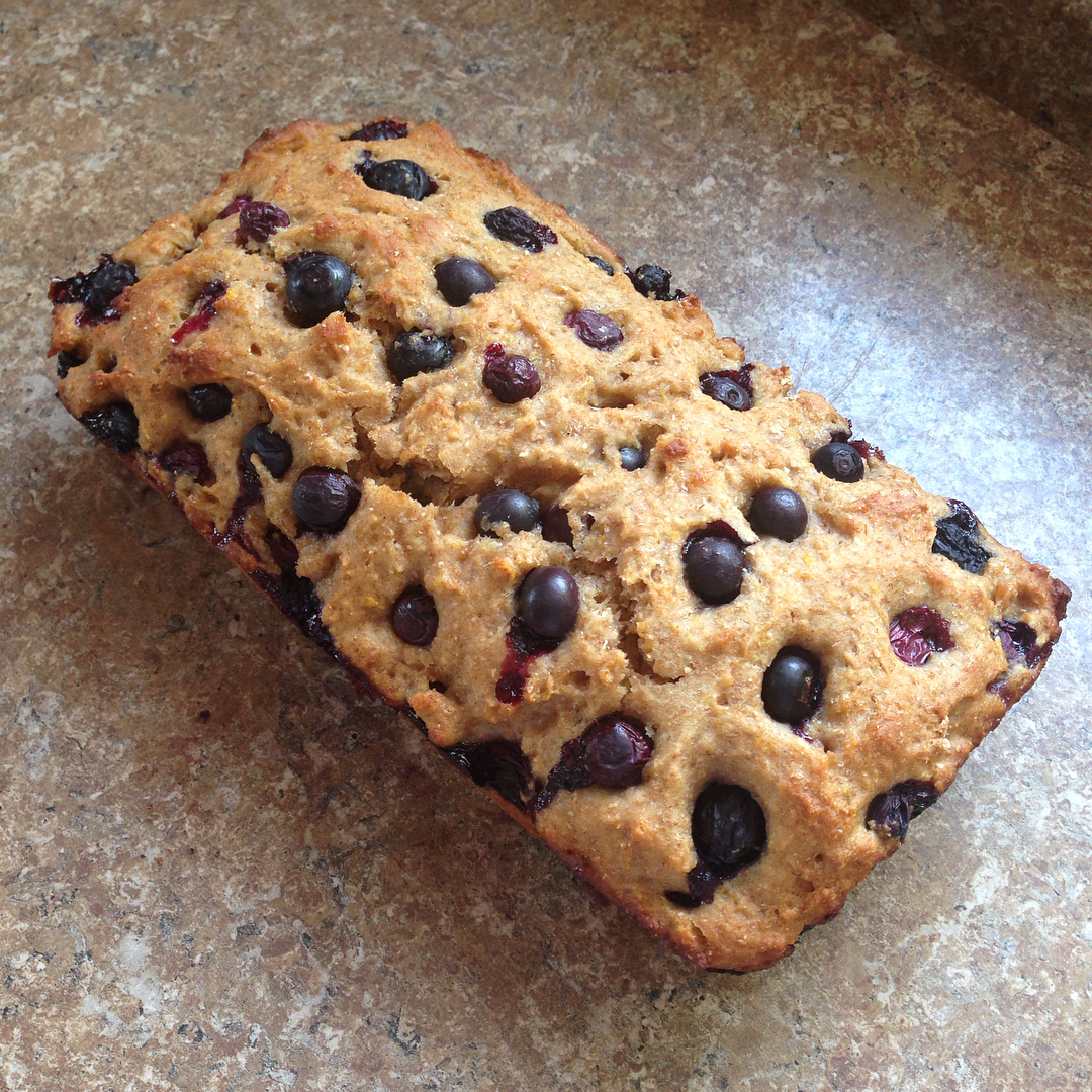 healthy lemon blueberry breakfast loaf by @twin_bakes