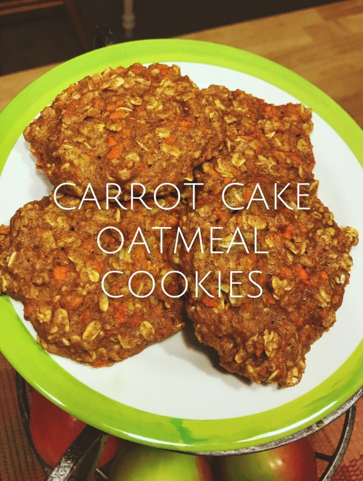 carrot cake oatmeal cookies by @healthfitnesscoaching