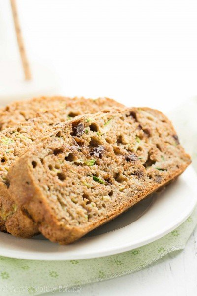 Healthy Chai Spice Chocolate Chip Zucchini Bread