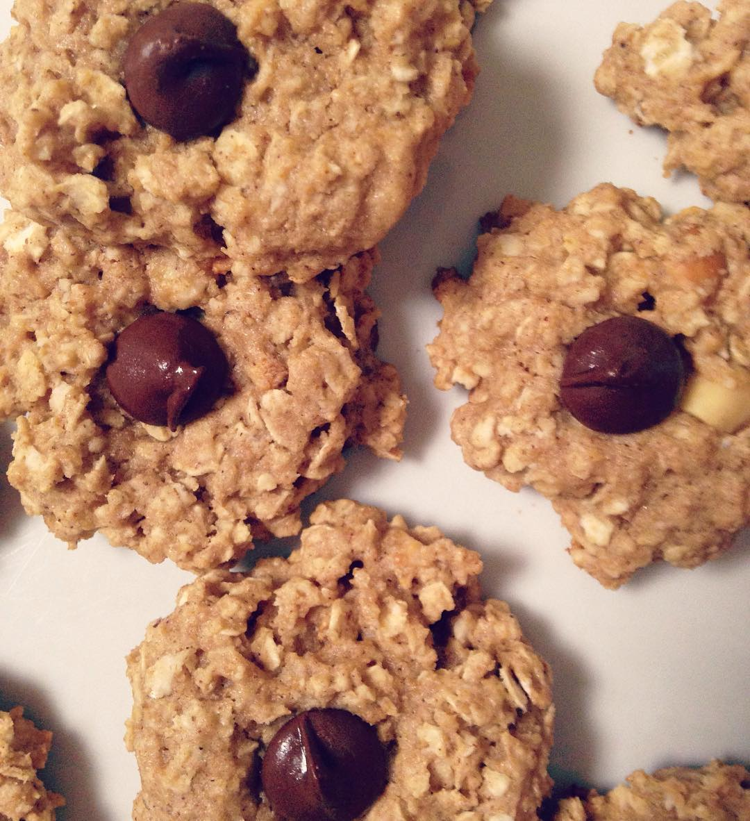chocolate chip peanut butter oatmeal cookies by @losingitinmo