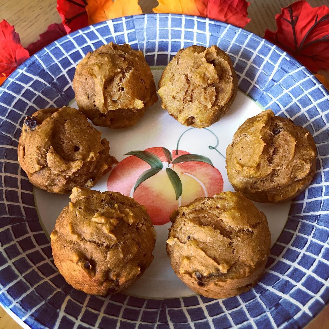 cranberry pumpkin muffins by @karenhlunde