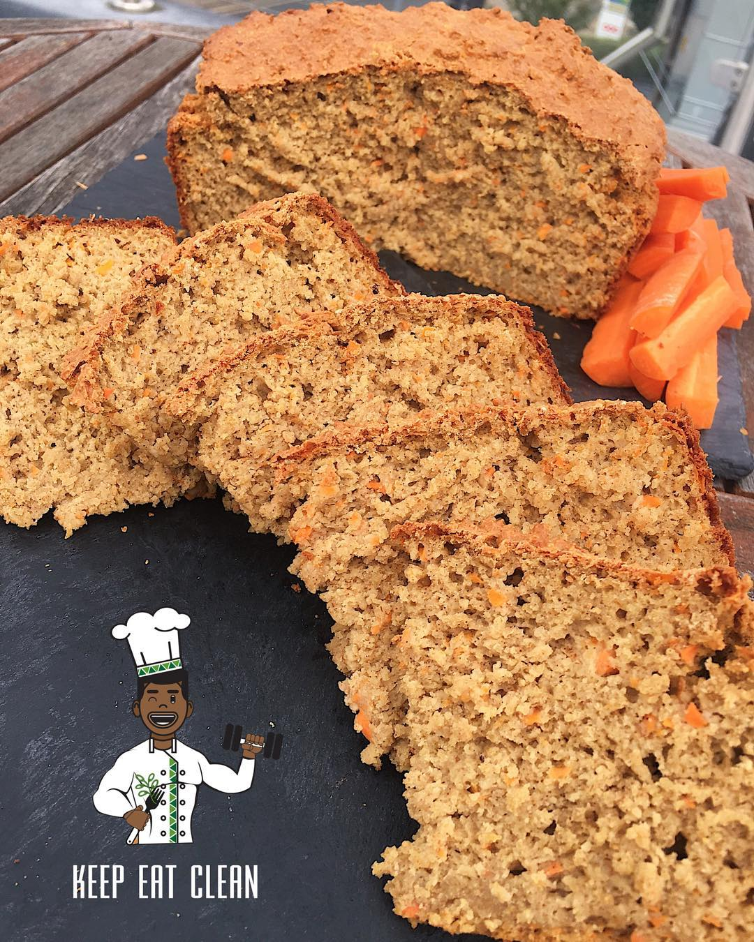 greek yogurt carrot cake pound cake by @keepeatclean