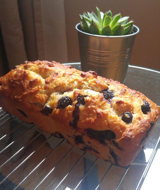 lemon blueberry breakfast loaf by @olivianicole_13