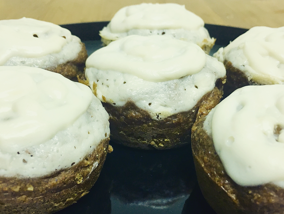 healthy pumpkin cream cheese muffins {a Starbucks copycat!} by @beyogaph